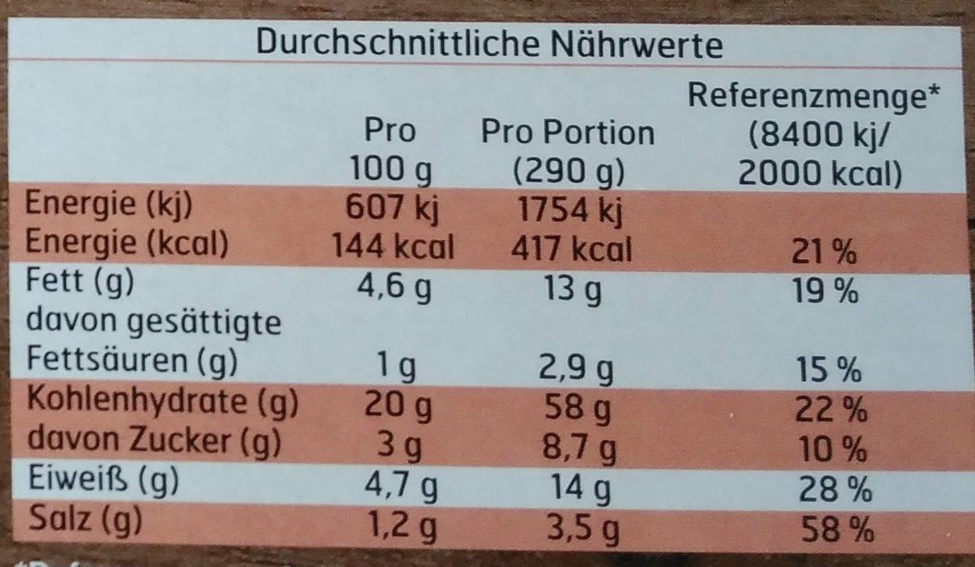 Flammkuchen Gegrillte Paprika & Tomaten - Informations nutritionnelles - de