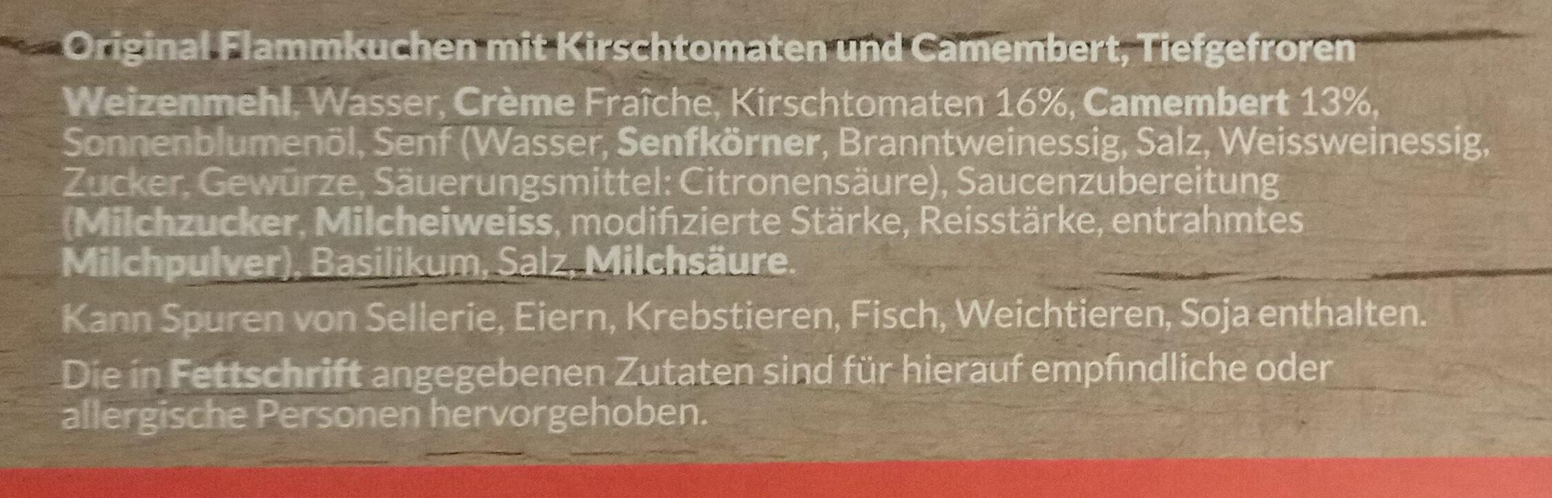 Flammkuchen - Ingredients - de
