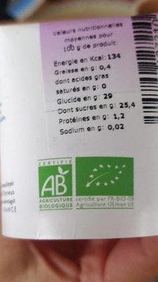 Passion sorbet bio - Valori nutrizionali - fr