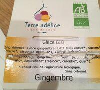 Glace au gingembre bio - Ingrédients