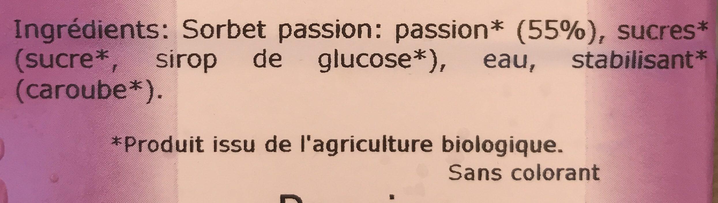 Passion - Ingrédients