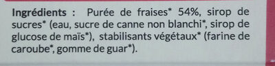Sorbet Plein fruit Fraise - Ingredients