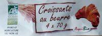 Croissants au beurre (4 x 70 g) - Produit