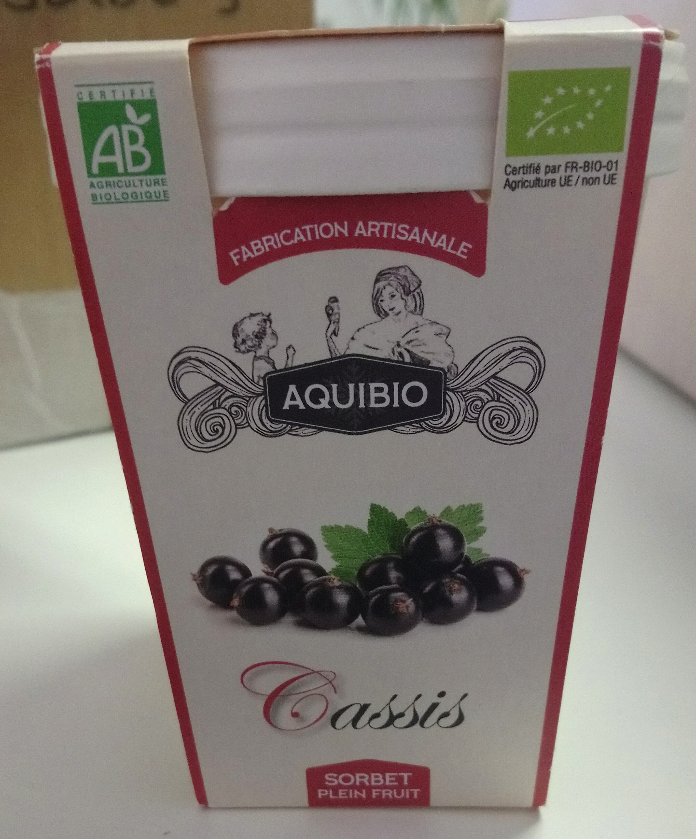 Sorbet plein fruit cassis - Produit