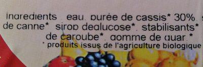 Sorbet plein fruit cassis - Ingrédients
