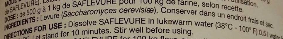 Saf-Levure - Ingrediënten