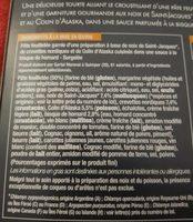 Tourte crevette st Jacques colin - Ingrediënten