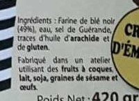 6 galettes de blé noir - Ingrédients - fr