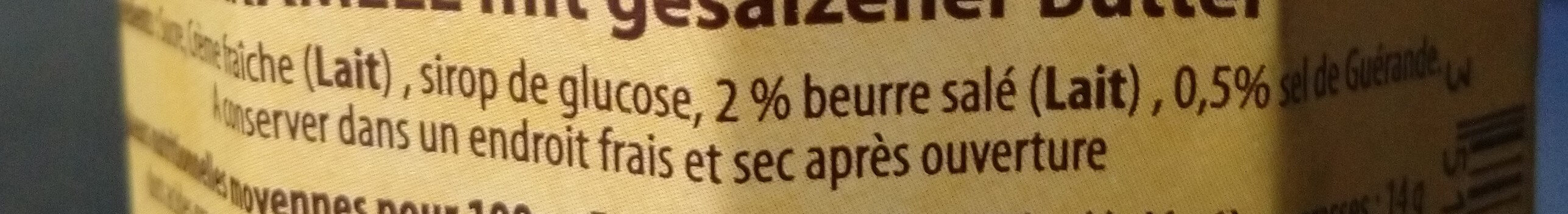 Crème de caramel - Ingredients - fr