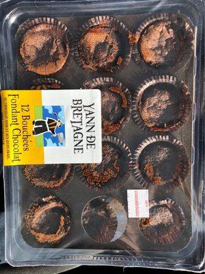 12 bouchees fondant au chocolat - Product