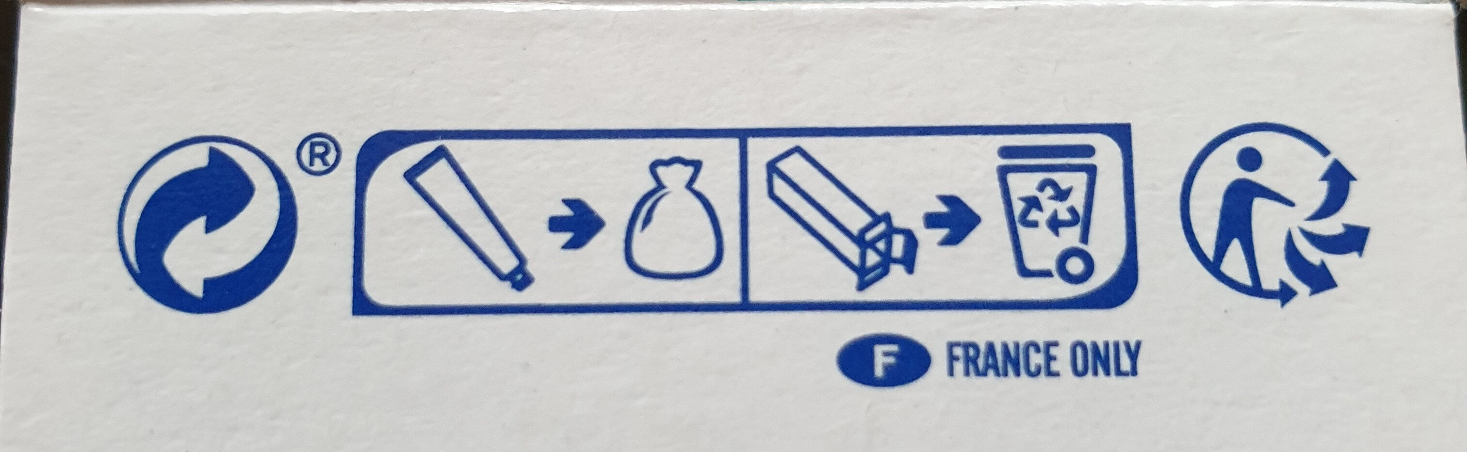 Dentavie gencives sensibles - Recycling instructions and/or packaging information - fr