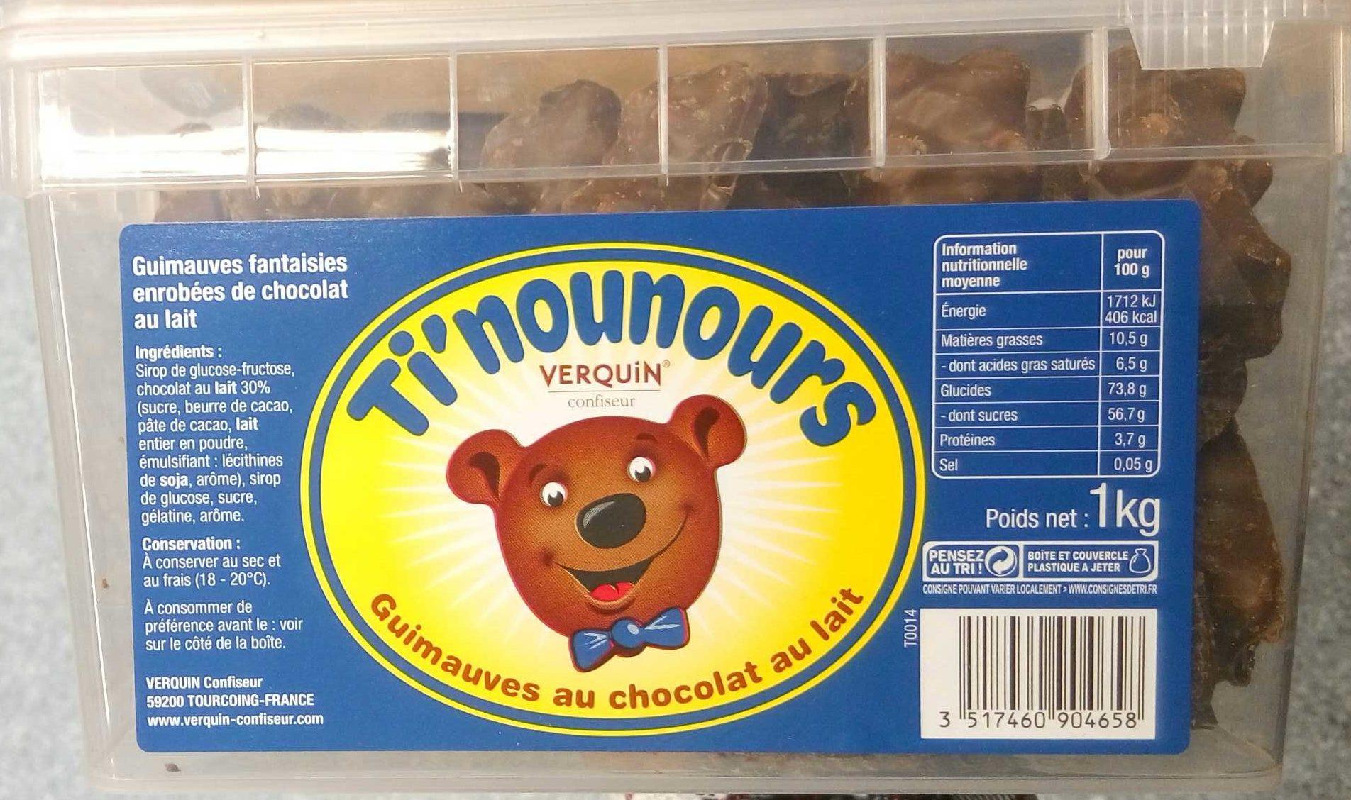 Ti'nounours chocolat au lait - Product - fr