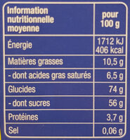 Ti'nounours chocolat au lait - Informations nutritionnelles