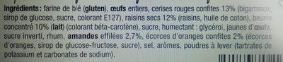 Cake pâtissier aux cerises - Ingrediënten - fr