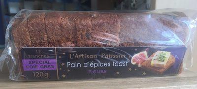 Toasts pain d'épices miel figues BISCUIT GOURMAND - Produit