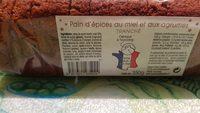 Pain d'épices au miel et aux agrumes - Product - fr