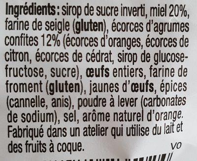 Pain d'épices au miel et aux agrumes - Ingrediënten - fr