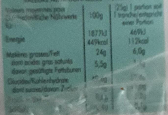 Moelleux Au Chocolat - Voedingswaarden - fr