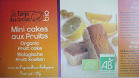 mini cakes aux fruits - Product