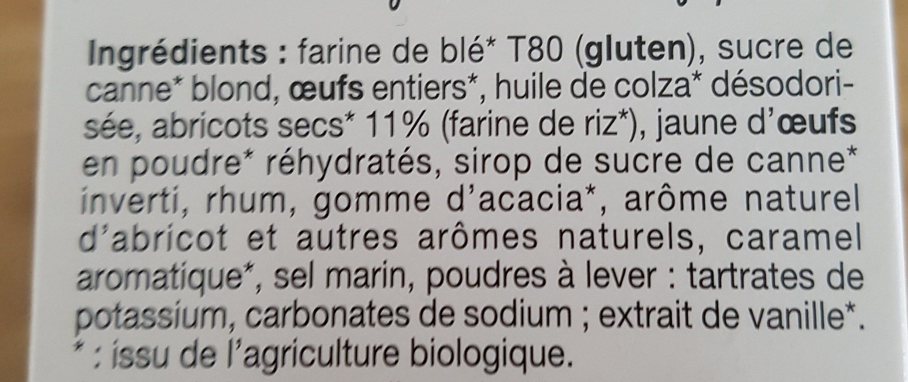 Mini Cake aux Abricots - Ingredients