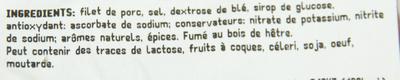 Filet de bacon fumé au bois de hêtre - Ingrediënten - fr