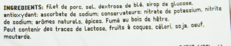 Filet de bacon fumé au bois de hêtre - Ingrediënten
