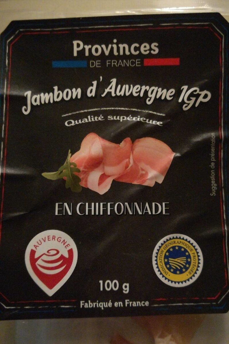 Jambon d'Auvergne IGP - Product - fr