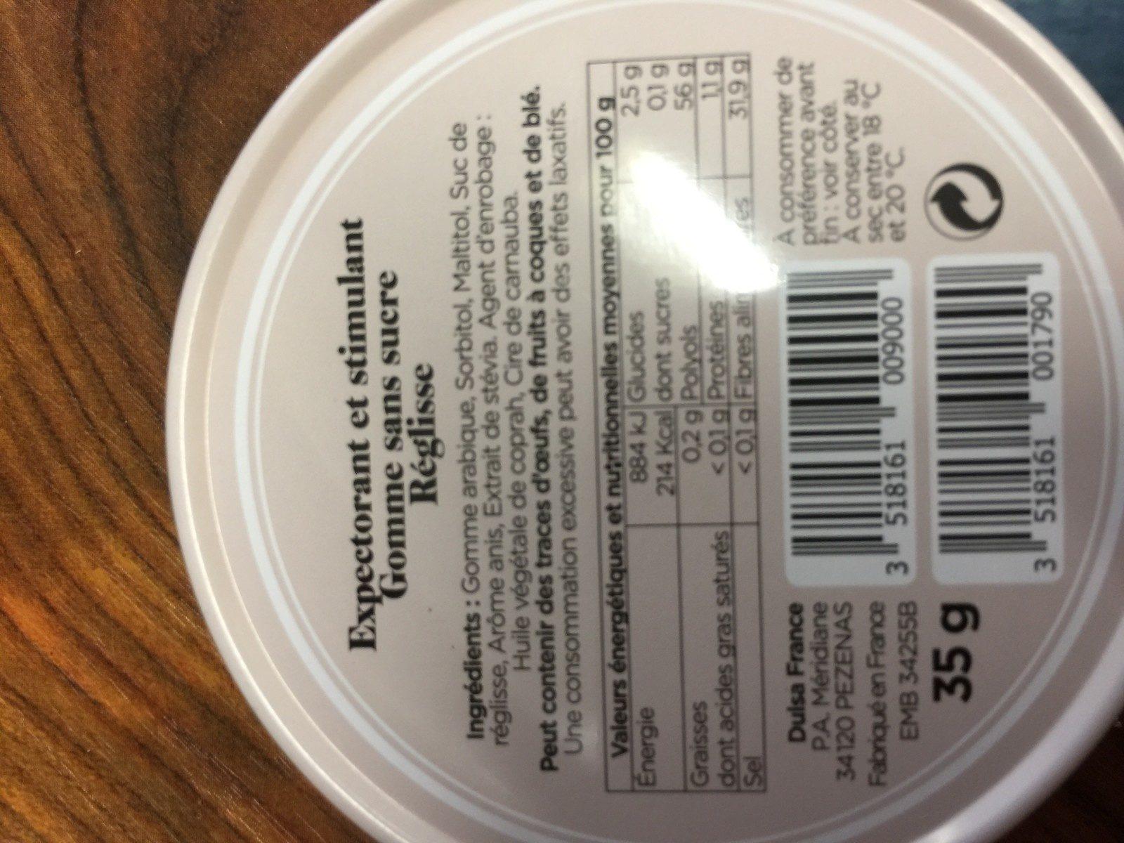 Bienfaisant reglisse - Ingrediënten