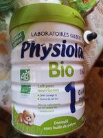 Physiolac Bio 1 De 0 À 6 Mois nouvelle formule - Product - fr