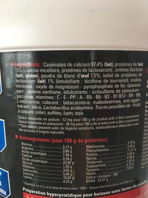 Eafit Milk & Egg 95 Muscle Volume And Definition Vanilla 750G (muscular Construction) - Ingrediënten