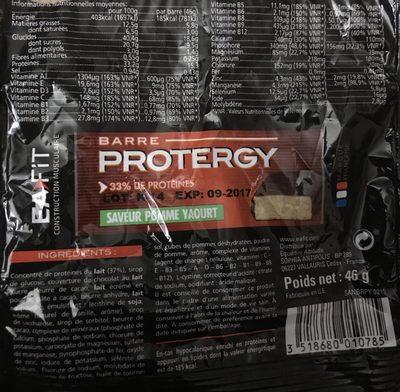 Eafit Protergy Barre Pomme Yaourt 46G - Ingrédients