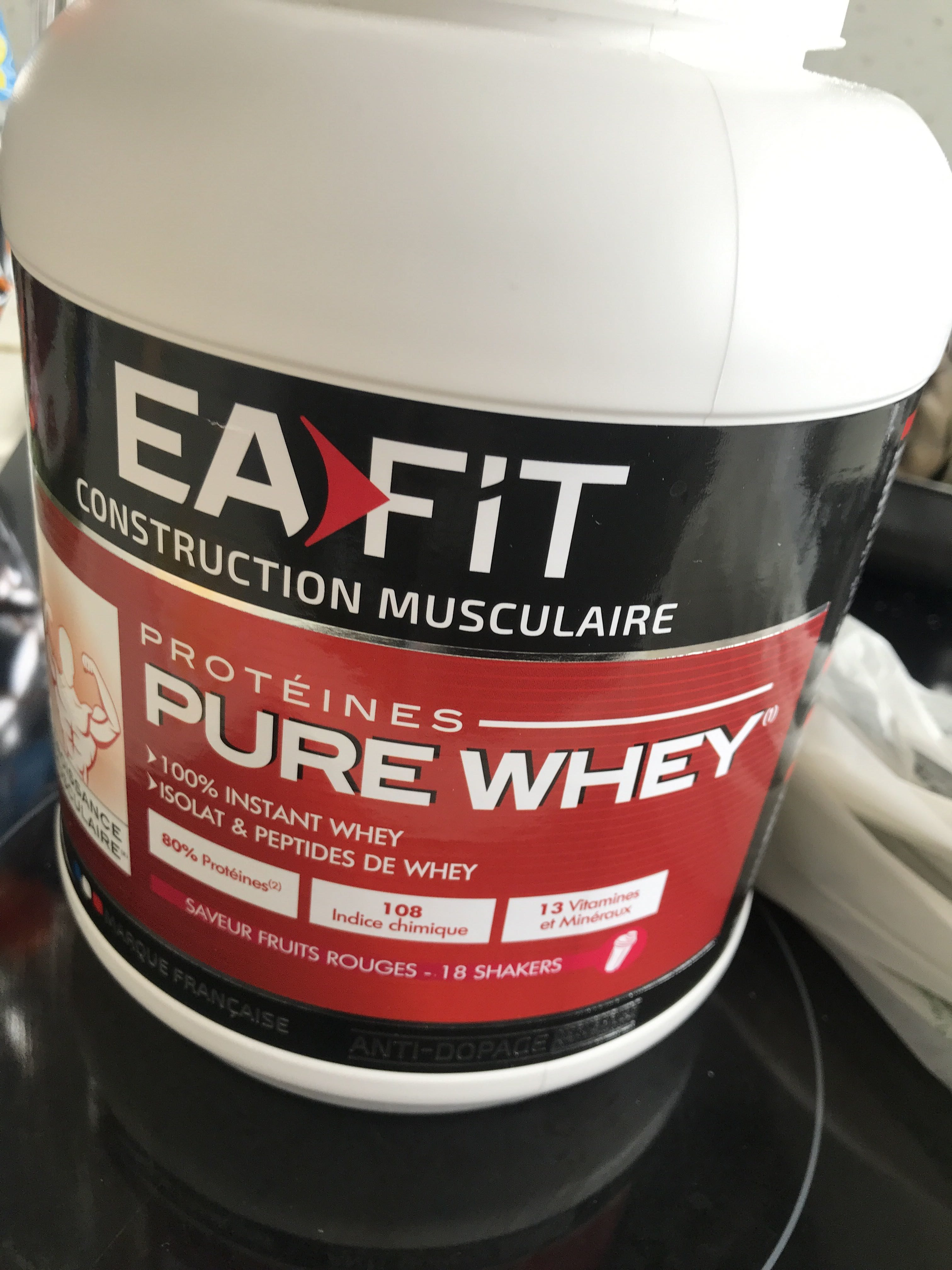 Eafit Pure Whey Croissance Musculaire Max Yaourt Fruits Rouges - Product