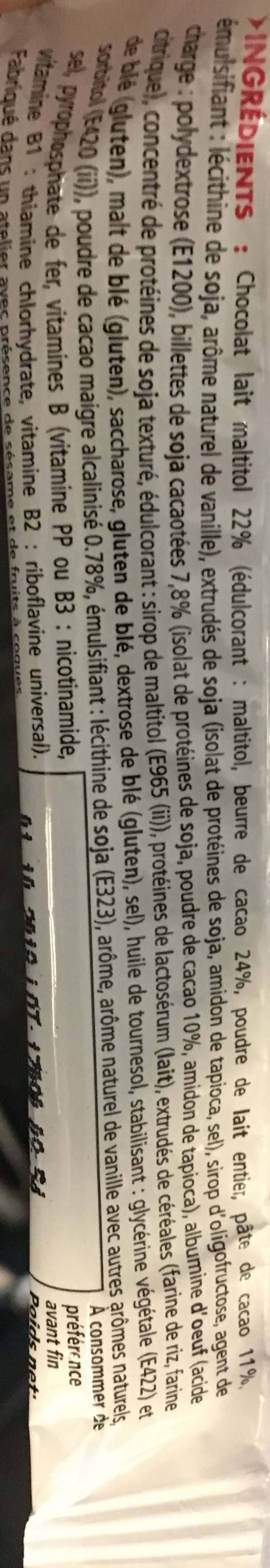 Eafit Proticereal - Barre Minceur Chocolat - Ingrédients - fr