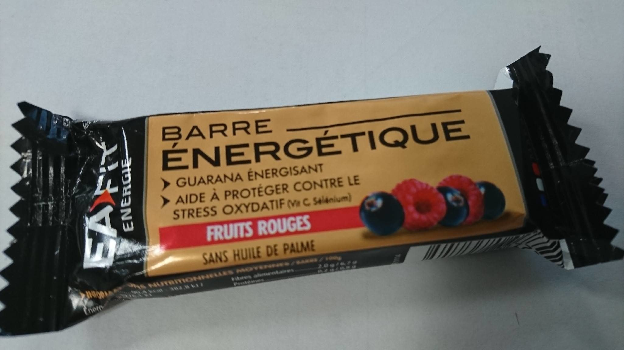 Barre Energetique Fruits Rouge - Product