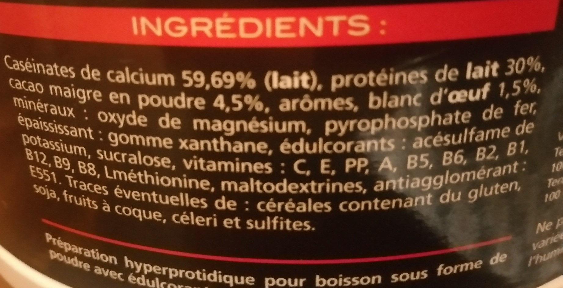 Milk & Egg 95 Saveur Chocolat - Ingrédients - fr
