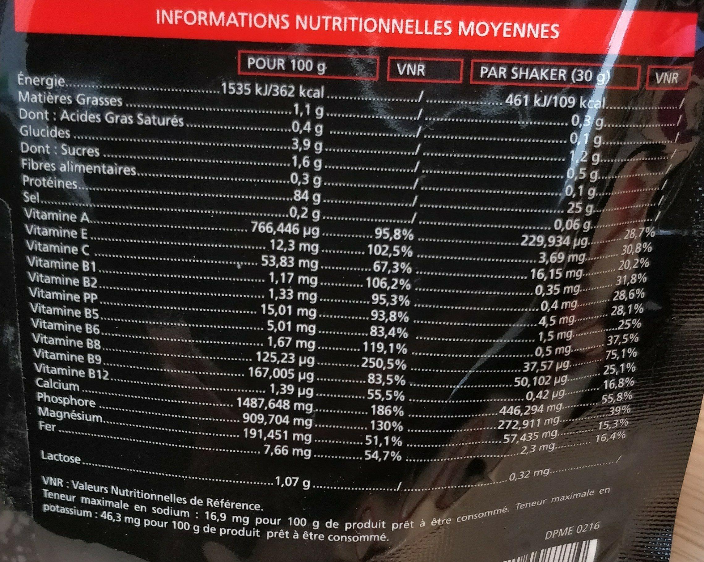Eafit Construction Musculaire Milk & Egg 95 Micellaire Nougat Glacé - Ingrediënten
