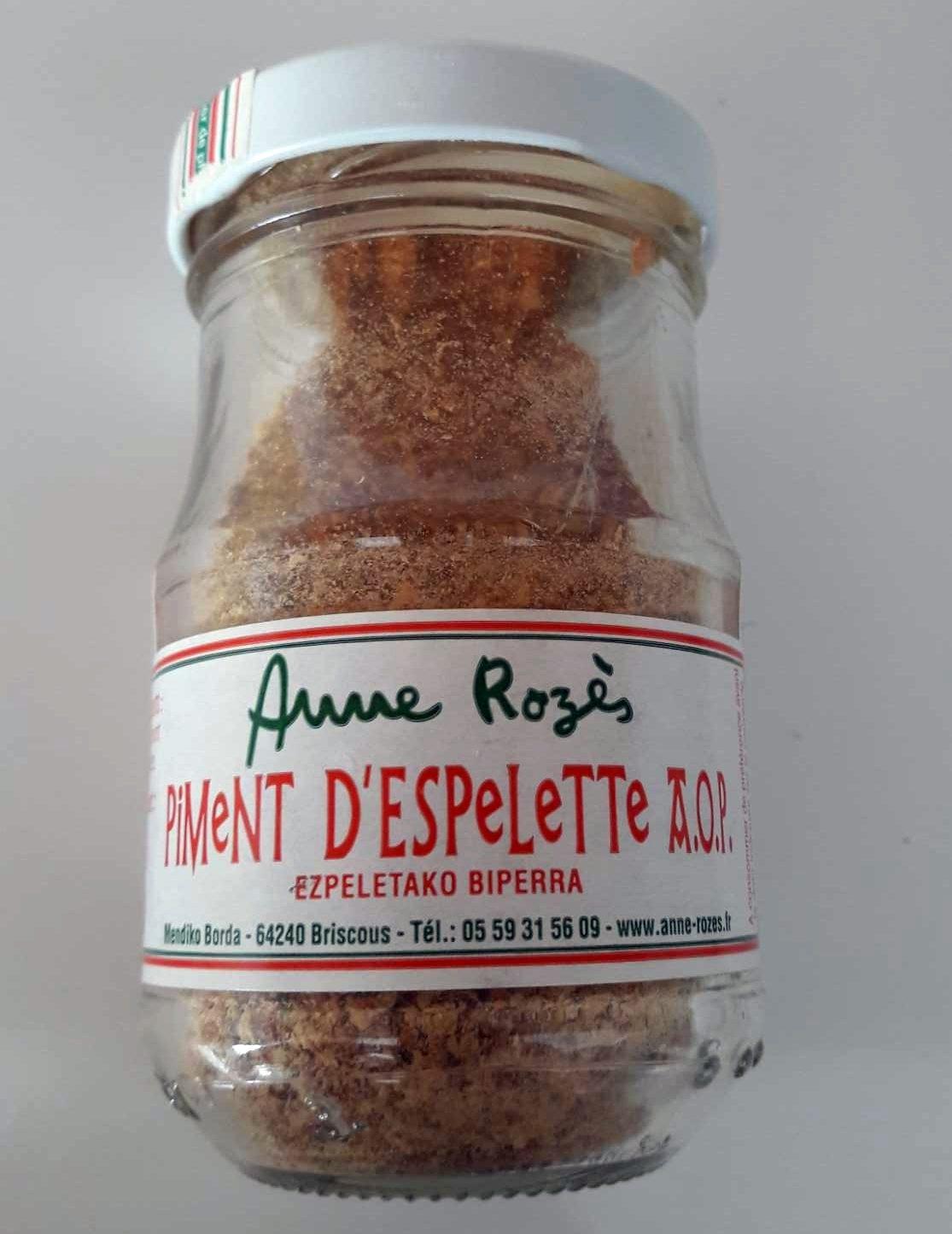 Piment d'Espelette AOC ANNE ROZES - Product