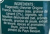 Flageolets cuisinés à la graisse de canard - Ingrédients - fr