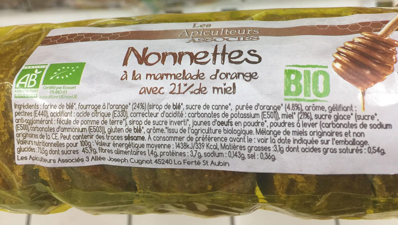 Nonnettes au miel et à l'orange - Produit