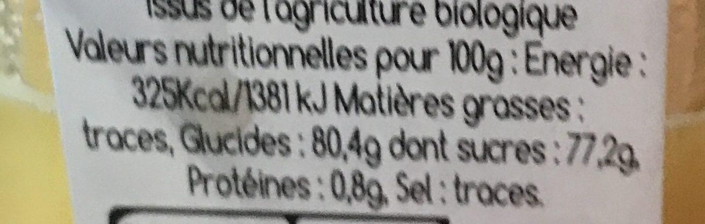 miel - Informations nutritionnelles - fr