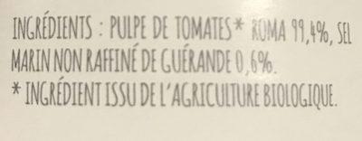 Chair de tomates - Ingrédients