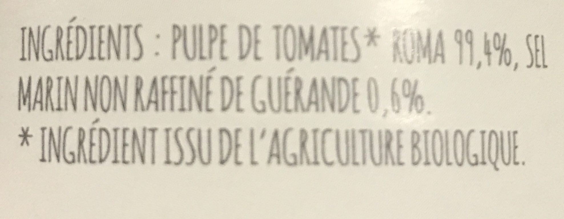 Chair de tomates - Ingredients - fr
