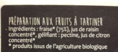Infini fruit fraise - Ingrediënten