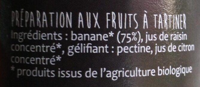 Infini fruit banane - Ingredienti - fr
