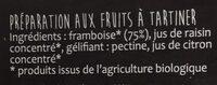 Infini fruit framboise - Ingrediënten