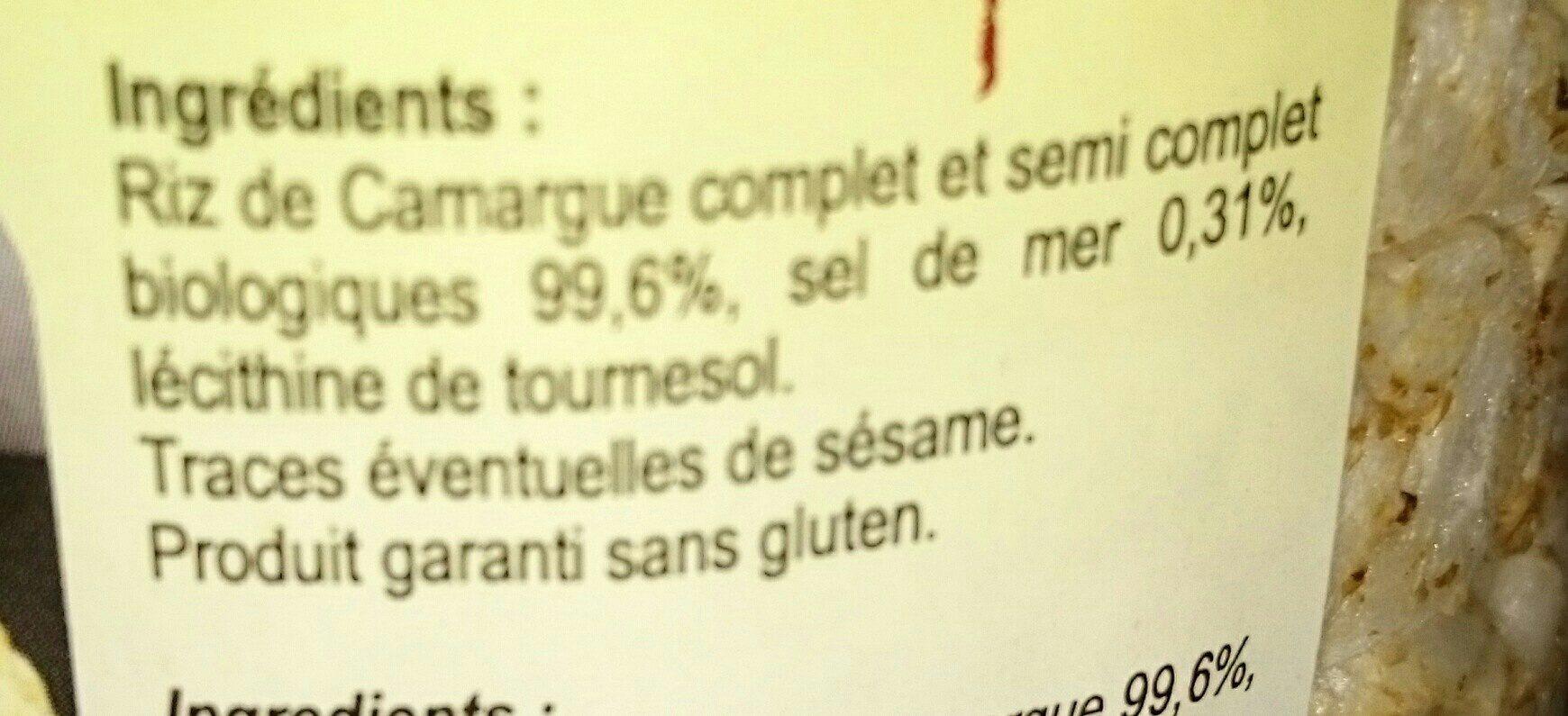 Galettes de riz complet - Ingredients - fr