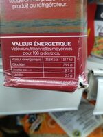Riz rouge CANAVERE - Nutrition facts - fr