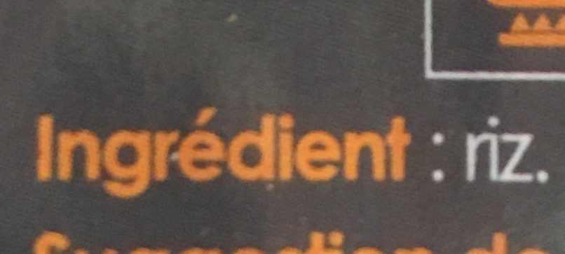 Riz de Camargue long incollable - Ingredients - fr