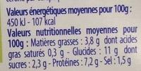 Bâtonnets de surimi (6 sachets de 3 bâtonnets) - Informations nutritionnelles - fr