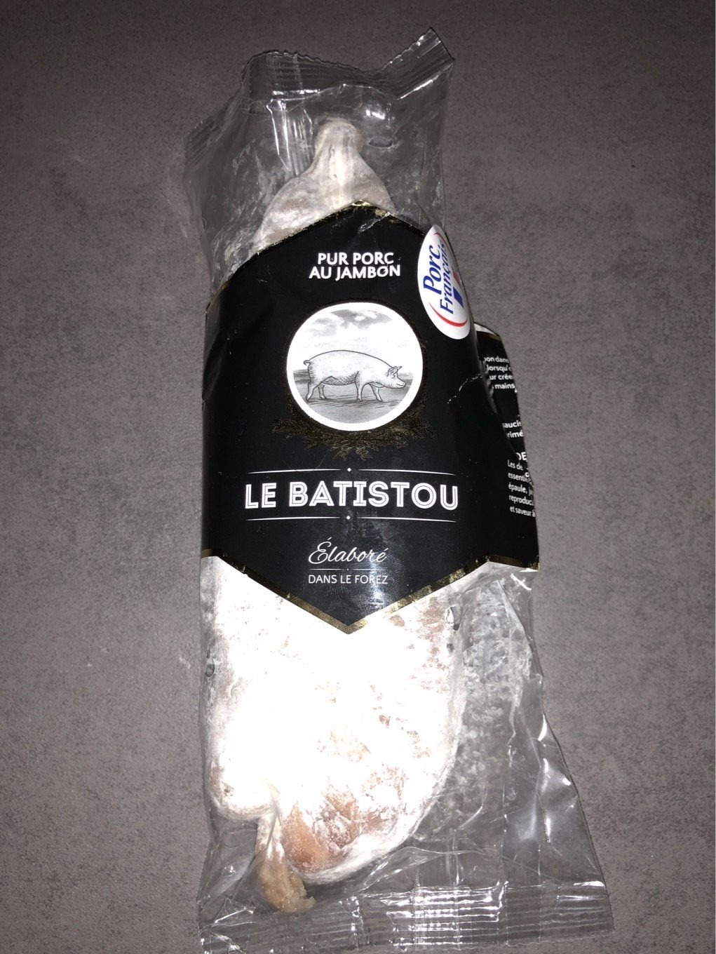Saucisson pur porc au jambon - Nutrition facts - fr